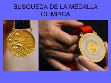 busqueda de la medalla olimpica
