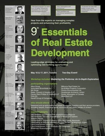 Essentials of Real Estate Development - Federated Press