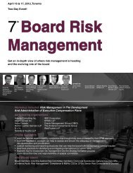 Board Risk Management - Federated Press