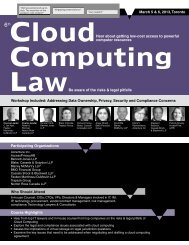 Cloud Computing Law - Federated Press