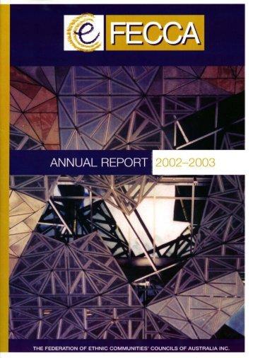 FECCA Annual Report 2002-2003