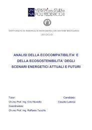 Analisi della ecocompatibilità e della ecosostenibilità de– - FedOA