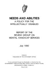NEEDS AND ABILITIES - National Federation of Voluntary Bodies