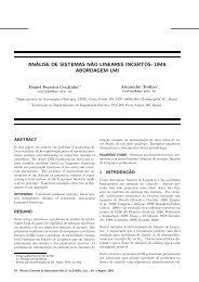 análise de sistemas n˜ao lineares incertos: uma ... - SciELO