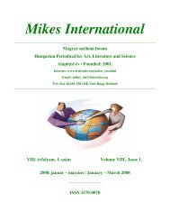 Mikes International 0108 - Hollandiai Magyar Szövetség