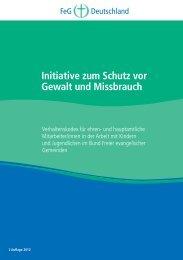 Initiative zum Schutz vor Gewalt und Missbrauch. Verhaltenskodex ...