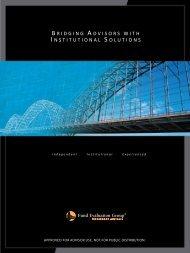 bridgingadvisorswithi nstitutionalsolutions - Fund Evaluation Group ...