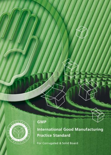 GMP International Good Manufacturing Practice Standard - Fefco