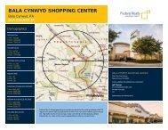 Bala Cynwyd Shopping Center Lease Flyer - Federal Realty ...