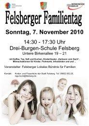 Sonntag, 7. November 2010 - Lokales Bündnis für Familie Felsberg