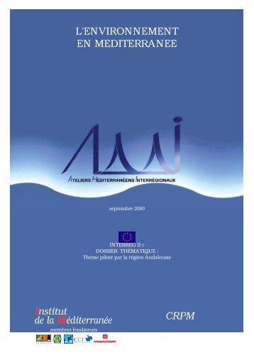 Institut de la Méditerranée L'ENVIRONNEMENT EN ... - Femise