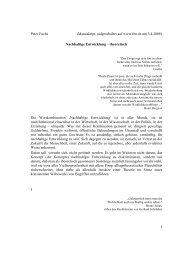 Nachhaltige Entwicklung - theoretisch - Martin Hafen