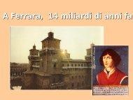 A Ferrara, 14 miliardi di anni fa - INFN Sezione di Ferrara