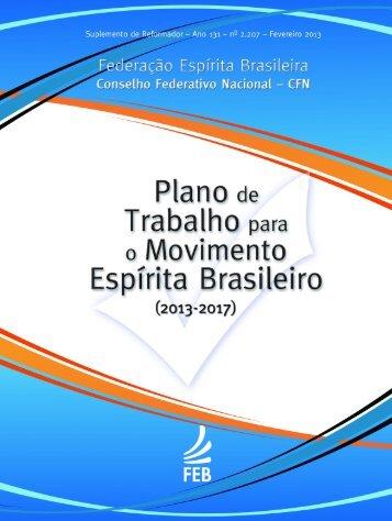 Plano de Trabalho - Federação Espírita Brasileira