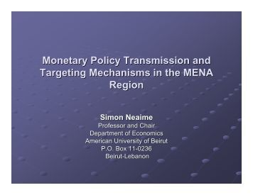 Monetary policy transmission in india