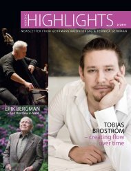 TObIAS bROSTRÖM – creating flow over time - Gehrmans Musikförlag