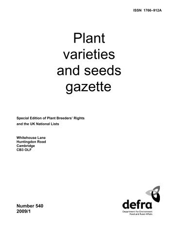 Special edition 2009/01 (PDF 814KB) - The Food and Environment ...