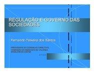 REGULAÇÃO E GOVERNO DAS SOCIEDADES - CMVM