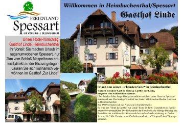 Gasthof Linde, Heimbuchenthal - Ferienland-spessart.de