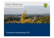Vermieterversammlung 2011 - Ferienzentrum Gößweinstein