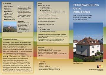 FERIENWOHNUNG OTTO PIRMASENS - Ferienwohnungen in ...
