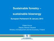 Sustainable forestry – sustainable bioenergy - Fern