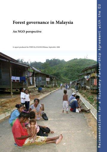 Forest governance in Malaysia - Rengah Sarawak - C2o