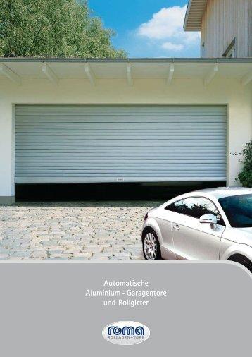 Automatische Aluminium - Garagentore und Rollgitter - Feroment
