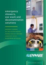 emergency showers, eye wash and decontamination solutions - Ferret