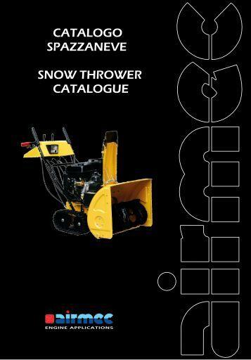 catalogo spazzaneve snow thrower catalogue - Ferramenta.Biz