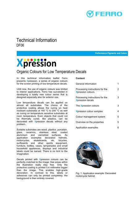 Technical Information - Ferro