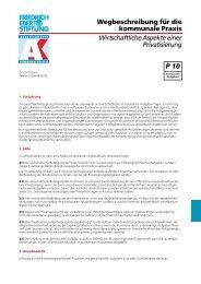 Wirtschaftliche Aspekte einer Privatisierung - KommunalAkademie ...