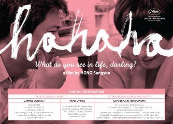 a lm by HONG Sangsoo - Cannes International Film Festival
