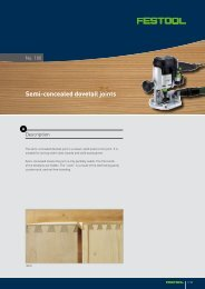 Semi-concealed dovetail joints - Festool