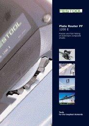 Plate Router PF 1200 E - Festool