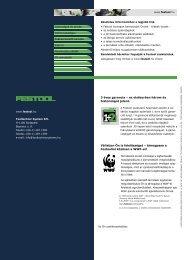 3 éves garancia - Festool