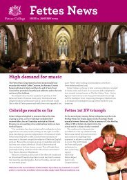 Fettes News: Issue 2 January 2009 [513619kb] - Fettes College