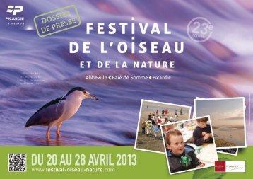 Télécharger le dossier de presse - Festival Oiseau Nature