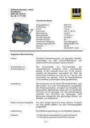 Kolbenkompressor, mobil BaseMaster BAM 500-10-90 D Art.-Nr. A ...