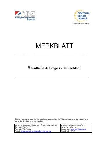 Öffentliche Aufträge in Deutschland