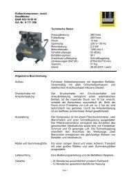 Kolbenkompressor, mobil BaseMaster BAM 400-10-50 W Art.-Nr. A ...