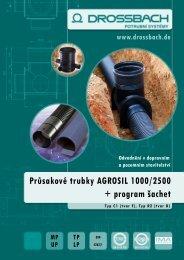 Průsakové trubky AGROSIL 1000/2500 + program šachet - Amispol.cz