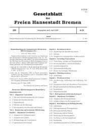 Bremisches Hilfeleistungsgesetz (BremHilfeG) - Feuerwehr Bremen