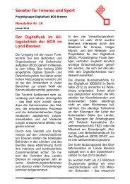 Digitalfunk Newsletter #16 - Feuerwehr Bremen
