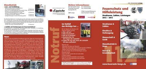 Jahresbericht 2012 - Freiwillige Feuerwehr Lemgo