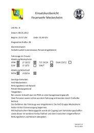 Bericht - Feuerwehr Meckesheim