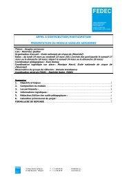 appel a contribution/participation presentation du module ... - Fedec