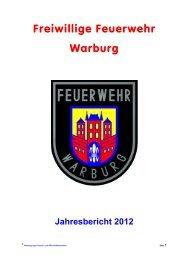 Jahresbericht 2012 - Freiwillige Feuerwehr Warburg