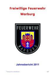 Anzahl Einsätze je Fahrzeuge - Freiwillige Feuerwehr Warburg