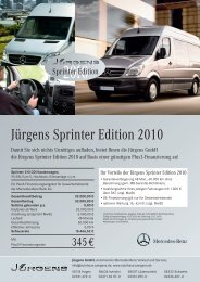 Jürgens Sprinter Edition 2010 - Jürgens Gmbh